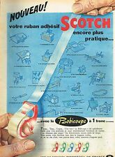 M- Publicité Advertising 1959 Le Ruban adhésif Scotch 3M Bobicoupe