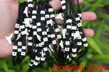 20 Kid's Shark Tooth Necklaces Sharks Teeth Black Coconut Bone Beads Wholesale *