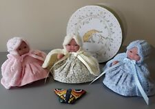 New Beautiful 5 inch Berenguer Doll & Pink/Lemon/Blue Dress & Knitted Clothes.