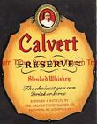1940s Kentucky Louisville CALVERT RESERVE BLENDED Whiskey Label