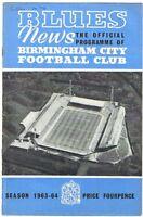 Birmingham City v Bolton Wanderers 1963/4