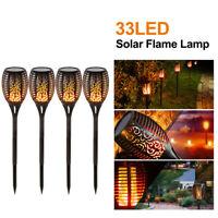 8x Outdoor 12LED Solar Torch Dance Flickering Flame Light Garden Waterproof Lamp