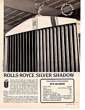 1969 ROLLS-ROYCE SILVER SHADOW  ~  ORIGINAL 3-PAGE ROAD TEST / ARTICLE / AD