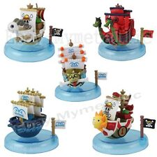 5pcs Set One Piece POP Going Meri Thousand Sunny Nine Snake Marine Mini Ship