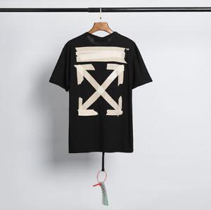 OFF WHITE Graffiti Arrow Printing Casual Short-sleeved T-shirt Couple T-shirt