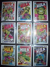 1978 MARVEL COMICS INCREDIBLE HULK COMPLETE CARD SET  DRAKES CAKES (HIGH GRADE)
