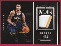 2016-17 Panini Noir Materials Color Patch #39 George Hill Patch 7/10
