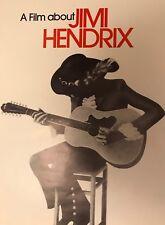 A Film About Jimi Hendrix Movie Poster Original 1973 Print 21x29 Vintage