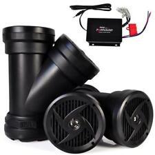 Pyle Dual Waterproof Marine Powered 6.5'' Speakers w Amp