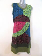 YAK & YETI Sleeveless Patchwork Alternative Soft Stretch Dress Quality BNWT XL