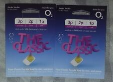 NEW O2 02 CLASSIC PAY AS U GO STANDARD & MICRO & NANO SIM CARD BUY 1 GET 1 FREE