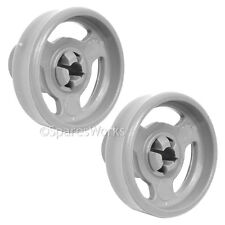 2 x Genuine Currys Lower CDW60W10 Basket Rack Wheel Dishwasher Wheels Spare Part