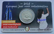 België speciale 2 euro 2015 Jaar voor Ontwikkeling in Coincard Vlaams