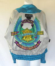 VTG 1992 LAUREL BY ESCADA MOTORCYCLE JACKET SIZE 34 GERMAN? POLY RAYON AQUATEAL