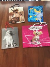Lot Of 4 Gift Bags Labradors,Blues Clues, Chinese Crested Hairless Dogs