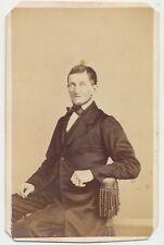 1860s ANTIQUE CDV PHOTO CIVIL WAR TAX REVENUE STAMP CARTE De VISITE 35