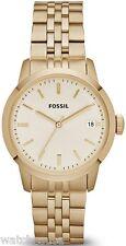 Fossil Women's Townsman Three Hand Stainless Steel Watch Gold-Tone FS4821