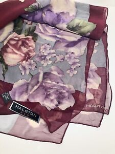 Vintage Purple Velvet Box Lid Attached Special Gift Boxing Two Silk Scarves 1 Vera 1 Lavender Oblong Included StorageDisplay