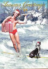 Gay Lesbian LGBT Holiday Cards Max Hern 3.5 x 5 Campy Retro Hunk Waterskiing