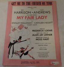 """Sheet Music for Voice and Piano: """"Get Me To The Church On Time"""" (My Fair Lady)"""