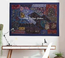 Indian Beaded Wall Hanging Patchwork Embroidered Bohemian Wall Decor Tapestry