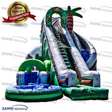 26x20ft Commercial Inflatable Jungle Water Slide & Pool With Air Blower