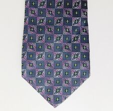 "Emilio Pucci Italian silk tie woven check very smart pattern Extra long 61"""