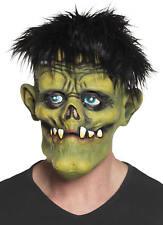 Maske Monster Creepy mit Haaren Latex Horror Grusel Karneval Halloween