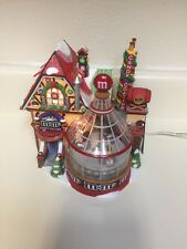 M&M's Candy Factory North Pole series Dept 56 animated Spins lights•Retired•2004