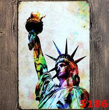statue of liberty classic Tin Sign Bar pub Wall Decor Retro Metal Art Poster