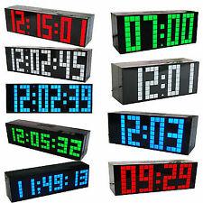 Home Digital Luminous Large Big Jumbo Led Snooze Wall Desk Alarm Clock Calendar