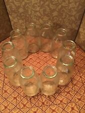 Circle Of 10 Bud Vases 10.5� X 4� Clear Glass Awesome!