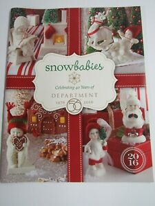 New 2016 Department 56 Snowbabies Catalog 59 Pages