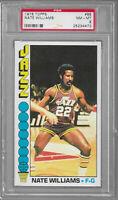 1976 Topps Nate Williams New Orleans Utah Jazz #88 PSA 8 NM-MT