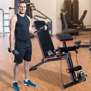 Foldable Dumbbell Bench Weight Training Fitness 6 Incline Adjustable Workout Gym