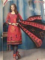 Indian Pakistani Cotton Salwar Kameez suit With Plazzzo Bottom Readymade Size 42