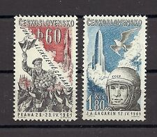 Czechoslovakia 1961 MNH **Mi 1280-1281 Sc C51-C52 AIR POST Air mail Gagarin.