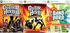 NEW Xbox 360 Guitar Hero III Legends of Rock, GH World Tour & Band Hero Games