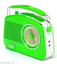 Steepletone Brighton anni 1950 Portatile Stile Retrò Radio rotanti-Verde/Bianco
