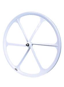 TENY 6 Spoke 700C Fixie Single Speed Road Bike Bicycle Wheel Front White