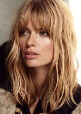 Natural Wave Ombre Blonde Full Bangs Wigs Hair