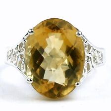 12 carat CITRINE Sterling Silver Ring -Handmade • SR049