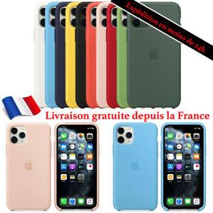 Original coque pour Apple iPhone 12 11 Pro X/Xs Xr Silicone Protection Officiel