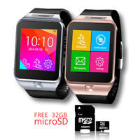 Indigi® SWAP2 Bluetooth Smart Watch Sim Card Slot GSM Unlocked! - FREE 32gb SD!