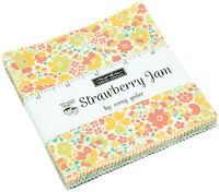 "Strawberry Jam Moda Charm Pack 42 100% Cotton 5"" Precut Fabric Quilt Squares"