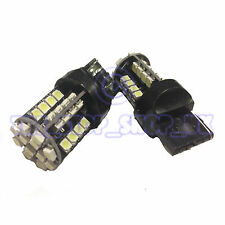 2x Replacement 44 LED T20 W21W Single Side Brake Tail 12v ICE White Bulbs