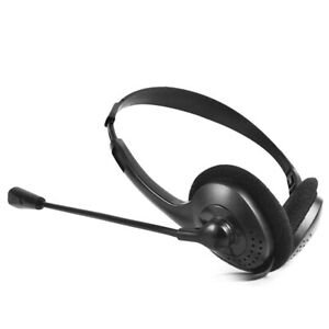 Headphone With Mic Microphone 3.5mm Wired Stereo Headset For PC Laptop Computer