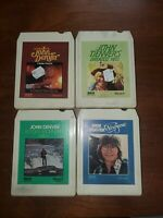 Lot Of Four 8-Track Tapes Country John Denver