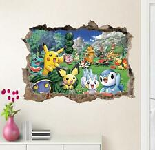 3D Pokemon Pikachu Friends Removable Wall Stickers Decal Kid room Home Decor USA
