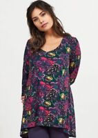 DY50 Blue Daisy Print Tunic Top Nomads
